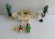 PLAYMOBIL VICTORIAN MANSION DOLL HOUSE PATIO FURNITURE SET 5323 VERY NICE