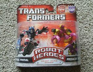 Transformers Universe- Robot Heroes;Beast Wars OptimusPrimal & PredaconTarantula
