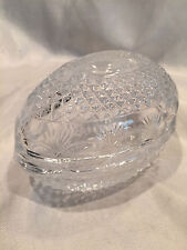 Collectible Vintage 1977 Mothers Day Glass Egg Trinket Box