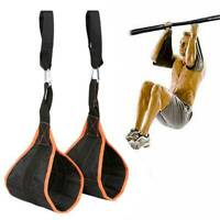 Weight Lifting Hanging Sling AB Pull Up Straps Crunch Bar Fitness Abdominal Chin