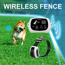 Wireless Dog Fence Outdoor Pet Containment System Rechargeable & Waterproof