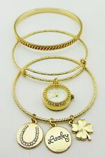 STYLE & CO Gold-tone Charm 3-pc. Bangle Msrp $28.00 *NEW *
