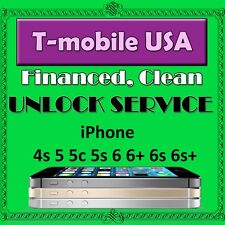 Unlock Service T-mobile USA iPhone 4s 5 5s 5c 6 6+ 6s 6s+ SE  7 7+ Clean
