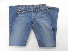 New Delia's Juniors Bailey Light Medium Wash Denim Low Rise Jean Sz 3/4 Regular
