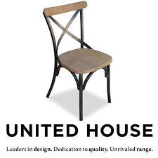 Outdoor Teak Timber Dining Chair Aluminium Outdoor Cafe Deck Garden Furniture