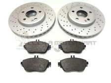 MERCEDES A180 A200 A220 12-17 FRONT 2 DRILLED BRAKE DISCS AND PADS (CHECK DISC)