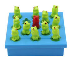 Kawaii Board Game Frog Checker Jumping Game Playing Card Kids Educating Toy Gift