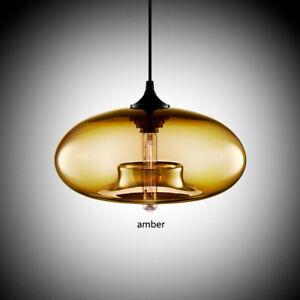 Amber Glass Pendant Light Ceiling Fixture Kitchen Island Hanging Lamp Decoration