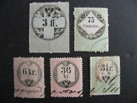 Austria 5 U old revenues collector believed had print,plate varieties,errors