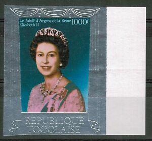 Togo 1000 Francs 1977 Silver Jubilee Queen Elizabeth Stamp SG 1179 IMPERF MNH