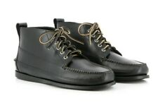 GH Bass & Co. Camp Moc Ranger Pull Up Black Leather Mens Boot Size UK 6 BNWB