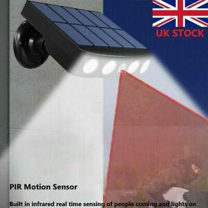 LED Solar Powered PIR Sensor Wall Lamp Outdoor Garden Security Spot Lights IP65