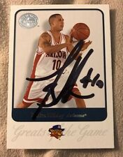 Mike Bibby Signed Trading Card Autographed Fleer Greats Of The Game