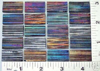"20 BLACK IRIDIZED FIBROID TEXTURE 1/2"" x 1"" UROBOROS GLASS RECTANGLES 90 COE"