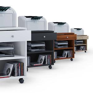 """VCM® Büro-Rollcontainer """"Salda"""" · 4 Farben · Bürotisch Bürowagen Druckerwagen"""