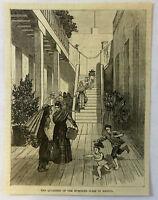 1886 magazine engraving ~ QUARTERS OF HUMBLER CLASS, Mexico