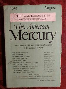 AMERICAN MERCURY January 1935 Meridel Le Sueur Theodore Pratt Eugene A. Kelly