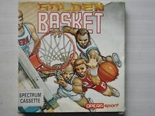 JUEGO ORIGINAL GOLDEN BASKET BALONCESTO OPERA SOFT SPORT SPECTRUM 1990