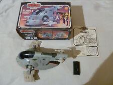 VINTAGE BOXED STAR WARS ESB SLAVE I BOBA FETTS SPACESHIP KENNER 1981 COMPLETE >>