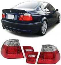 2 FEUX ARRIERE A LED ROUGE BLANC BMW SERIE 3 E46 BERLINE PH1 330 d