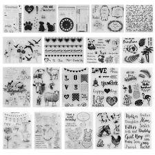 Alphabet Transparent Silicone Clear Stamp Diary Scrapbooking DIY Album Decor