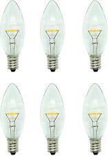 6-PACK 0.51W 23 Lumen 5W Equivalent LED Light Bulb B11 Window Candle Warm White