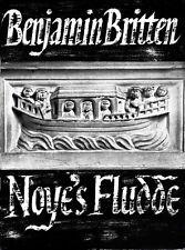BRITTEN NOYE'S FLUDDE Eng/Ger Vocal Score