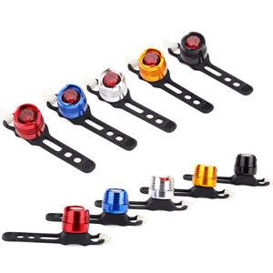 Tragbar LED Fahrrad Vorne Hinten Schwanz Helm Rot Weiss Blitzlicht Lampe .