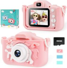 Unicorn Kids Camera for Girls Toddler - Mini Digital Camera Toys for 3 4 5 Pink