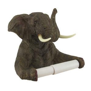 Zeckos Trunk Up Elephant Bath Tissue Holder