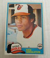 1981 Topps Baltimore Orioles Ken Singleton #570  Lot Of 67 Ex+ - NM Mint