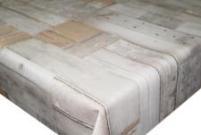 Natural Brown Oak Pvc Vinyl Table Cloth Plank Wood Effect Floorboards Vintage