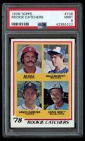1978 78 Topps Rookie Catchers Dale Murphy/ Lance Parrish PSA 9 Mint RC #708