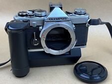 Olympus OM-1 Chrome body complete with Winder 1 - Works Great