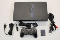 Sony PS2 SCPH-39000 Black Console Fat Cont AC AV Bundle Japan Import 2PC108