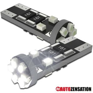 2X Car Canbus Bulb 10-SMD Hyper White LED Lamp T10 194 168 Side Marker Signal