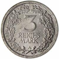 Weimarer Republik 3 Reichsmark Silber 1931 Mzz A Silbermünze Kursmünze