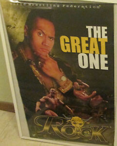 THE ROCK POSTER GREAT ONE SEALED NEW RARE OOP WWE WWF WRESTLING 2000
