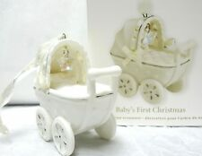 HALLMARK 2011 Baby's First Christmas Baby Carriage NEW IN BOX Porcelain Ornament