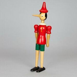 Pinocchio Dipinto a mano Legno  Snodabile Alto 30 Cm  anni 60' 70' Collezionismo