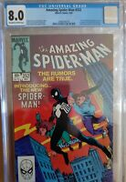 AMAZING SPIDER 252 1ST APP OF  BLACK COSTUME CGC 8.0 OW to W Pages