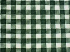 BOTTLE FOREST GREEN GINGHAM CHECK KITCHEN PATIO OILCLOTH VINYL TABLECLOTH 48x48
