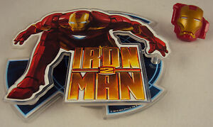 Iron Man 2 Cake Deco Kit CASE LOT 48 SETS ~ w/Lay on Topper & Ring