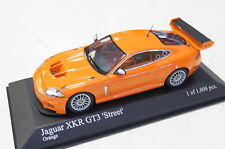 "Jaguar XKR GT3 ""Street"" orange 2008 1:43  Minichamps neu & OVP"