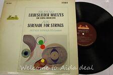 "Brahms Liebeslieder Waltzes Suk Serenade for Strings LP (VG) 12"""