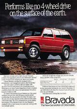 1991 Oldsmobile Bravada - 4-wheel-drive - Classic Vintage Advertisement Ad H07