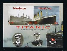 Niuafo'ou Titanic Small Souvenir Sheet Stamp Issue --- IMPERFORATE