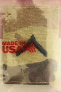 US ARMY GI MULTICAM OCP E-2 PV2 CAMOUFLAGE CAMO UNIFORM PARKA TAB RANK INSIGNIA