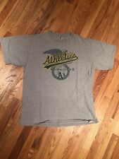 MLB Authentic Vintage A's Athletic T-Shirt Large