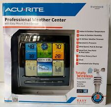 Acurite Professional Weather Wireless Forecast Center Indoor Outdoor Temperature